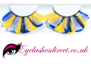 Beautiful Tri-Colour  Feathers False Eyelashes