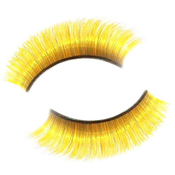 Synthetic Hair Yellow False Lashes