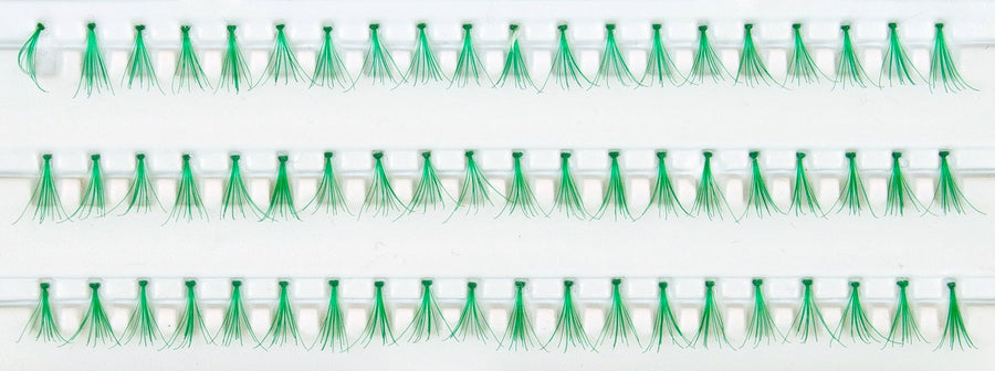 Individual Green Flare False Eyelashes 10.5mm