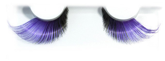 Synthetic Hair Purple And Black False Lashes