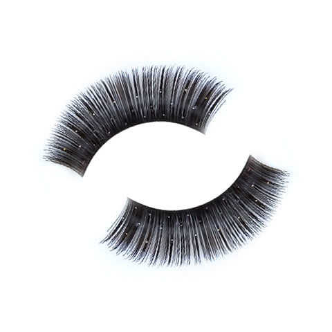 Synthetic Hair False Lashes With Glitter