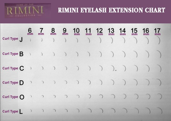 L Curl Synthetic Mink Lashes 20 Rows Mixed