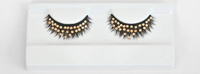 NEW  Grand Ball -Golden Goddess Swarovski Crystal Lashes