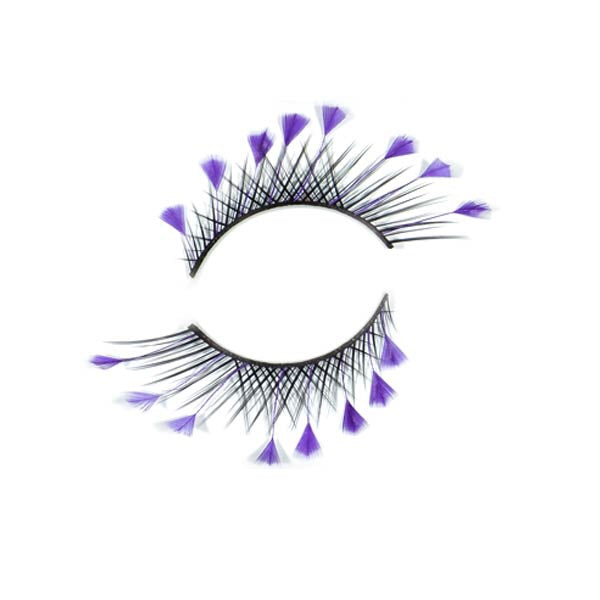 Purple Tipped Black Lashes