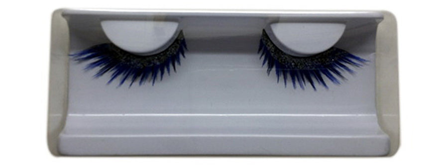 Blue with glitters false eyelashes
