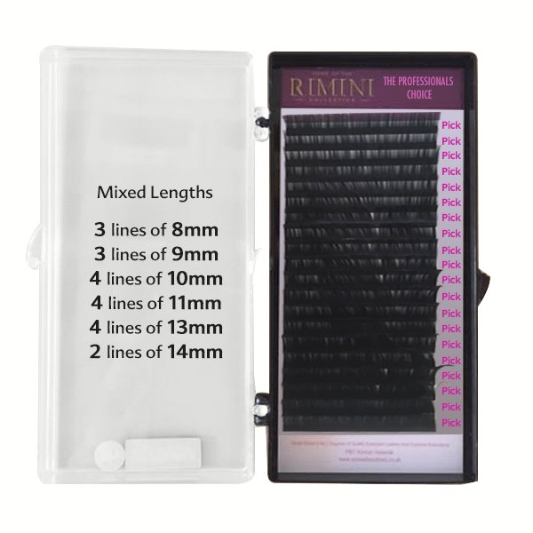 B Curl Synthetic Mink Lashes 20 Rows Mixed - OPTION