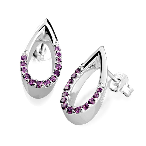 Sateenkaari Rhodolite Earrings with Stud