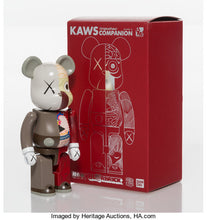 Load image into Gallery viewer, Kaws Dissected Companion Bearbrick 200% Red/Brown