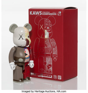 Kaws Dissected Companion Bearbrick 200% Red/Brown