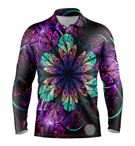 Amethyst | Mens Long Sleeve S Golf Shirts