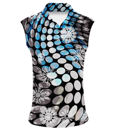 Arctic Wave | Womens Sleeveless S Golf Shirts