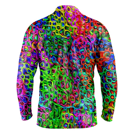 Brushstroke | Mens Long Sleeve Golf Shirts