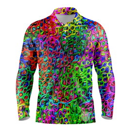 Brushstroke | Mens Long Sleeve S Golf Shirts