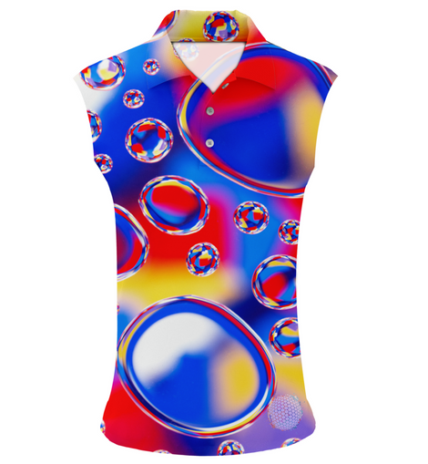 Bubble Trouble | Womens Sleeveless S Golf Shirts
