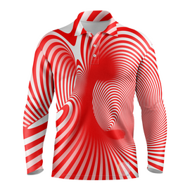Cyclone | Mens Long Sleeve S / Red Golf Shirts