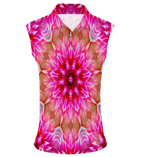 Flower Power | Womens Sleeveless S Golf Shirts