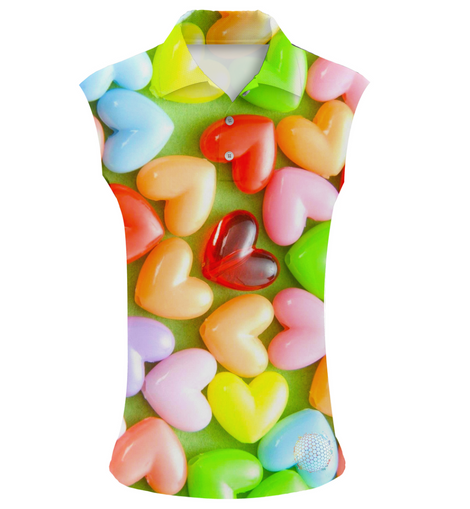 Love Beans | Womens Sleeveless S Golf Shirts