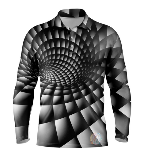 Onyx S / Long Sleeve Mens Golf Shirts