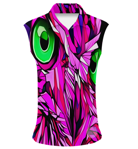 Pink Phoenix | Womens Sleeveless S Golf Shirts