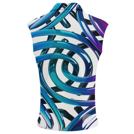 Rings Of Ice | Womens Sleeveless Golf Shirts