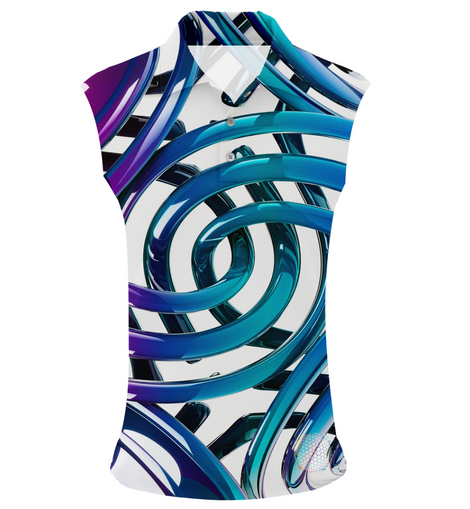 Rings Of Ice | Womens Sleeveless S Golf Shirts