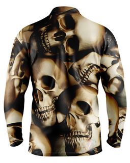 Skull | Mens Long Sleeve Golf Shirts