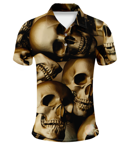 Skull | Mens S Golf Shirts