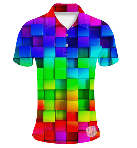 Tetris | Couples Mens Small Short Sleeve / Womens Golf Shirts
