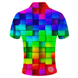 Tetris Mens Golf Shirts