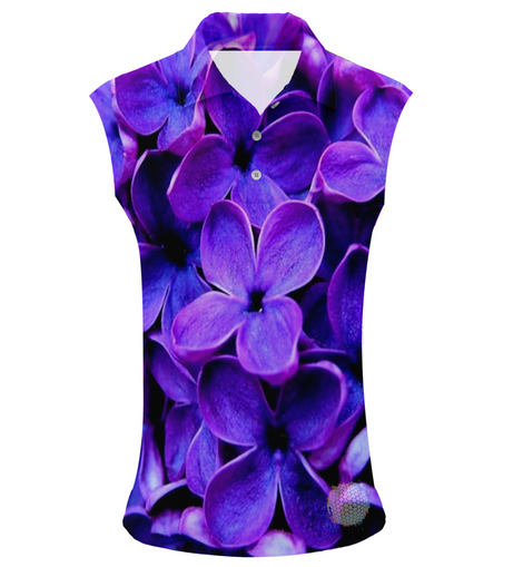 Violet | Womens Sleeveless S Golf Shirts