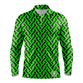 Zipper | Mens Long Sleeve Green / S Golf Shirts