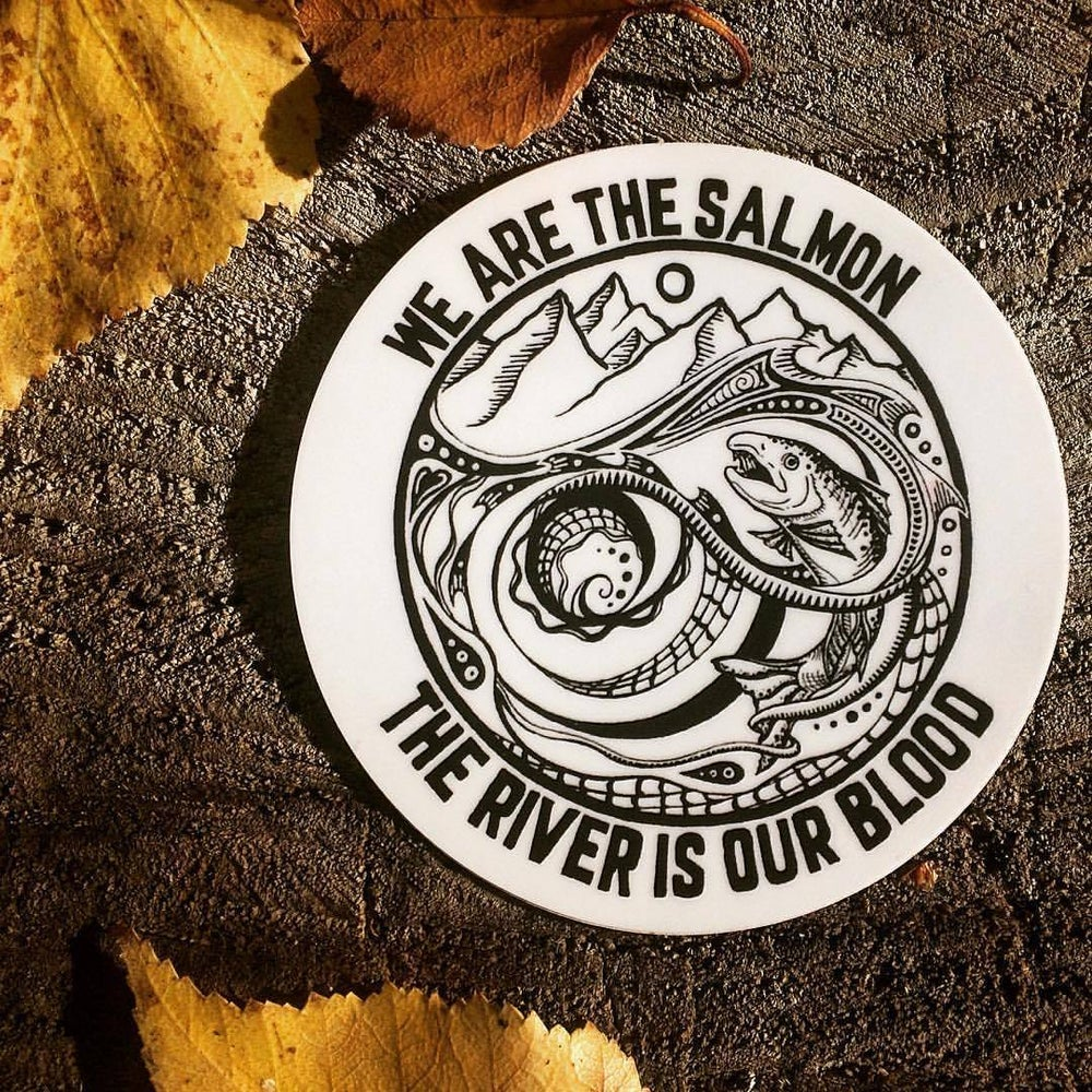 We Are The Salmon Sticker