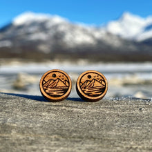 Load image into Gallery viewer, Mountain Stud Earrings