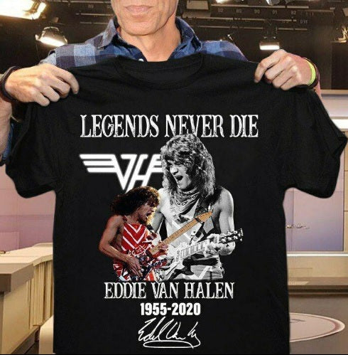 Eddie Van Halen 'Legends Never Die' T-Shirt For Men Women SJA