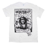 T-shirt blanc Zombie Alive and Deadly blanc