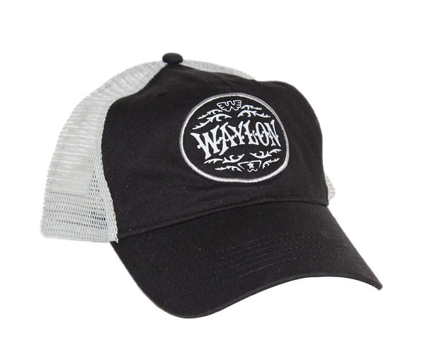 Waylon Jennings Circle Trucker Hat