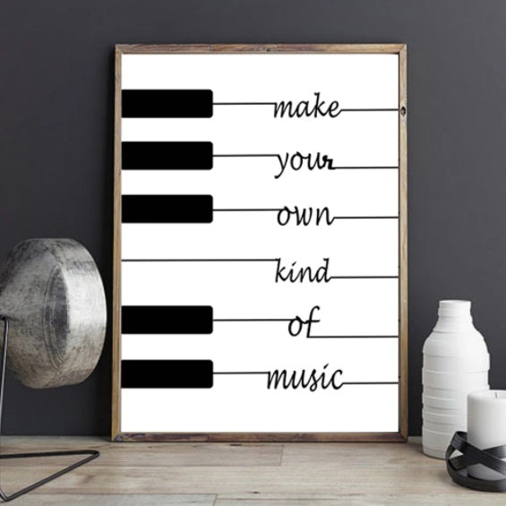 'Make Your Own Kind Of Music' Wall Home Decor