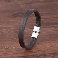 Natural Stone Bracelet For Men Multi-layer Handmade Weaved Leather Jewelry SJA