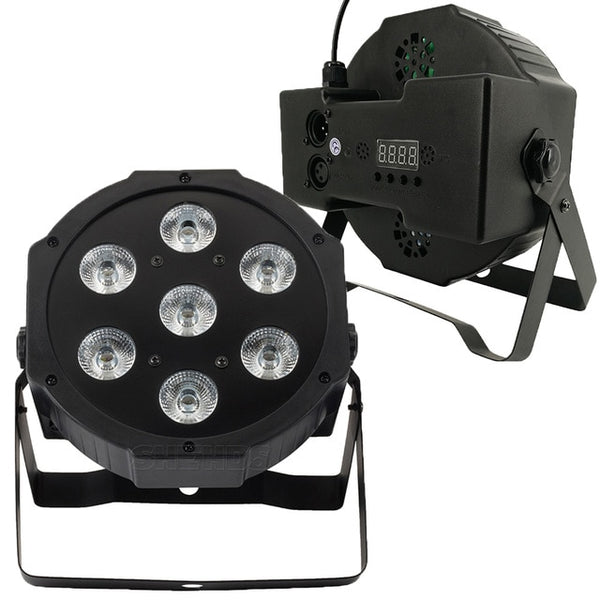 1PCS LED 7x18W RGBWA+UV Par Light with DMX512 6in1 Stage Light Wash Effect DJ Disco 7x12W 54x3W 12x3W Mini Led Spotlighting 10W SJA