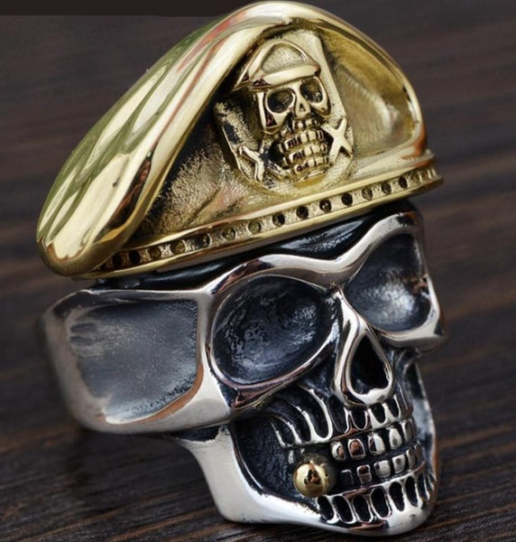 Skull Head Ring 925 Sterling Silver Vintage Male Jewelry Skull SJA