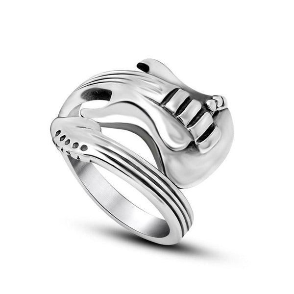 Guitar/ Bass Ring For Men Stainless Steel Fashion Jewelry SJA9