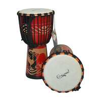 8/10/12inch Wooden African Drum Djembe Hand Drum Percussion Instrument Mahogany SJA