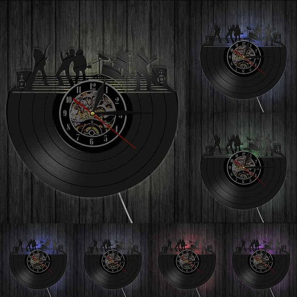 Band Vinyl Record Decorative Wall Clock SJA