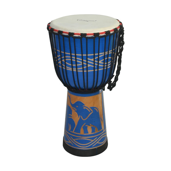 10inch Djembe Wooden African Drum Hand Drum Percussion Instrument Mahogany SJA