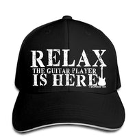 Guitar Quote Baseball Cap 'Relax The Guitar Player is Here' Snapback Hat SJA