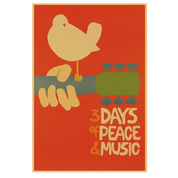 Woodstock 1969 Music Wall Art Decor SJA