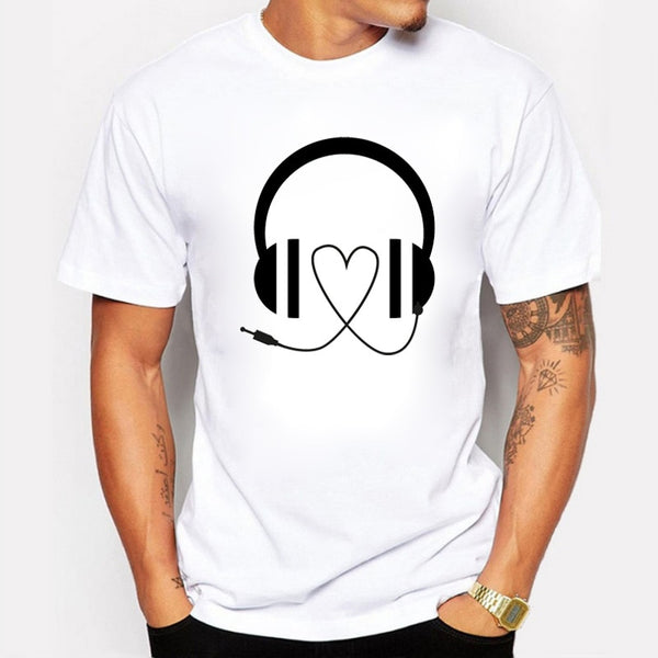 Music T-Shirt Cotton Casual Short Sleeve Tee shirts Men's Clothing SJA