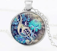 Treble Clef Music Notes Necklace and Pendant Choker Women Jewelry SJA