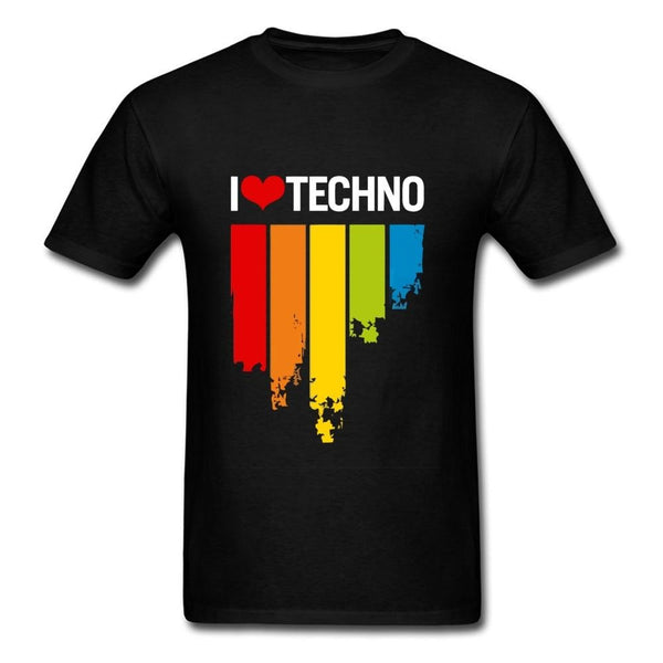 I LOVE TECHNO Music T-Shirts DJ