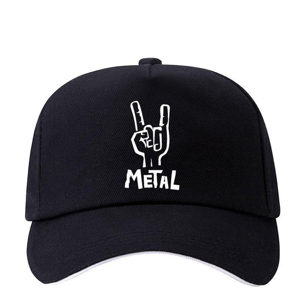 Heavy Metal Printed Baseball Cap Women Men's Snapback Hat Cotton Unisex SJA